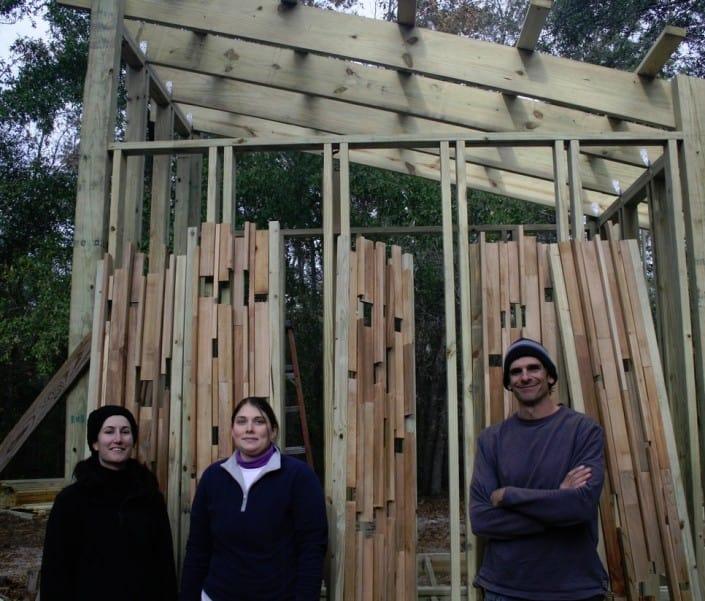 Heart Cypress on a Solar Bath House