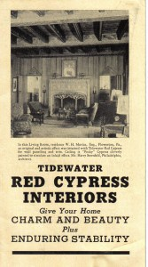 "Antique Heart Cypress ""Tidewater Red"" Brochure from 1904"