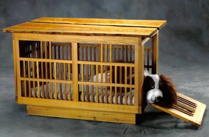 Zen Dog House Made with Antique Heart Cypress Reclaimed Wood