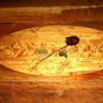Antique Reclaimed Curly Heartpine Wood Inlay