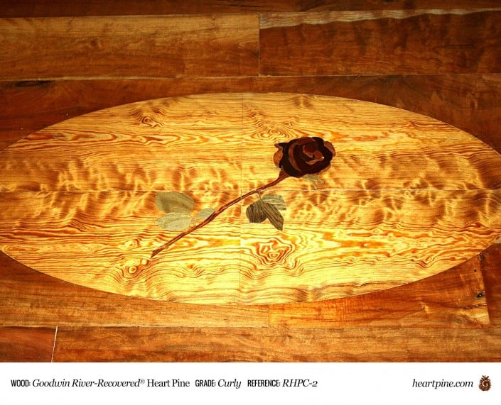 Goodwin River Recovered Heart Pine Curly