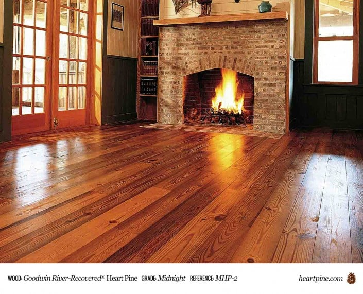 Goodwin River-Recovered Heart Pine Midnight