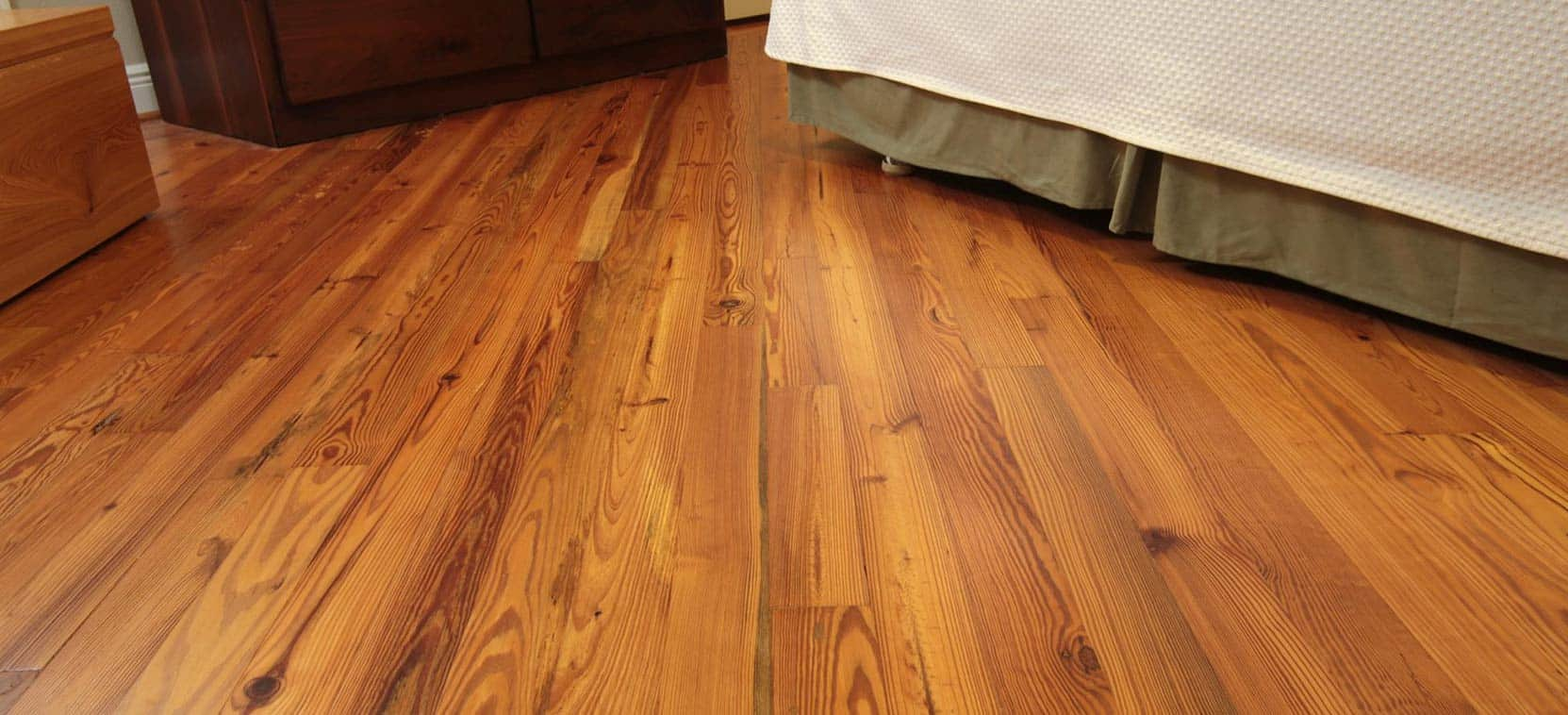 River-Recovered Antique Heart Pine Character Wood Flooring