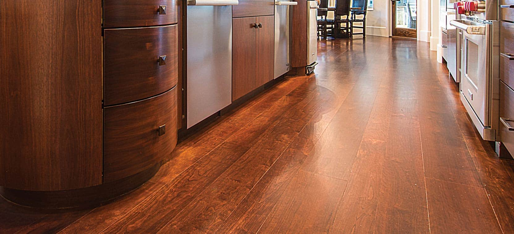 Wild Cherry Wide Plank Wood Flooring