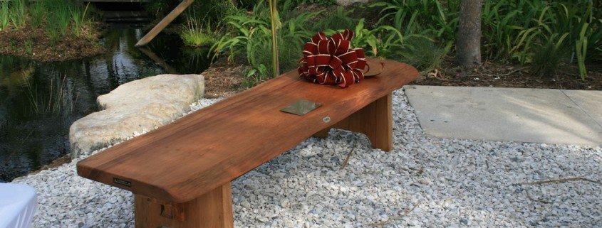 Naples Botanical Gardens – Handmade Bench Dedication 9