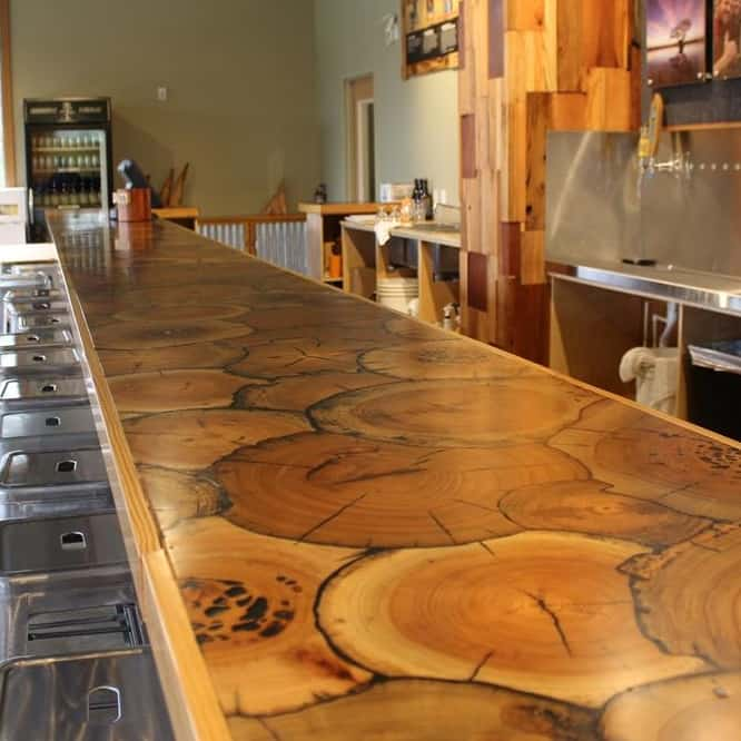 Millwork wood flooring for What to use for a bar top