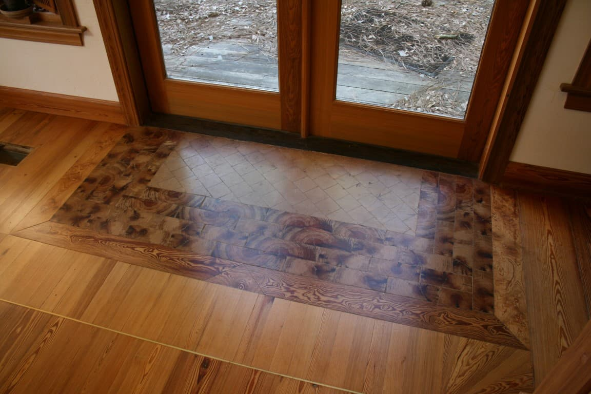 Spruce up your floor reclaimed heart pine and cypress - Cypress floorboards ...