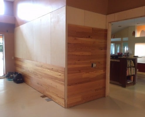 Yes, Heart Pine Walls are Beautiful, Too!