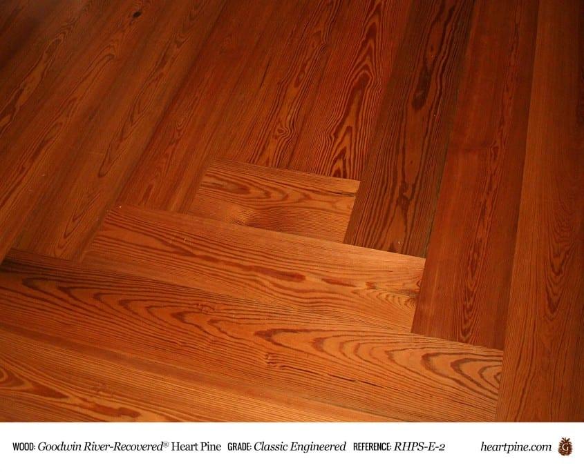 Heart pine classic engineered wood flooring for Hardwood flooring prefinished vs unfinished