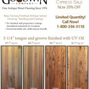 End of Summer Cypress Sale