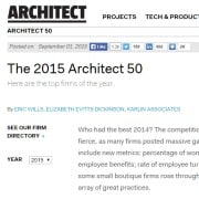 "Goodwin Partners Named to Architect Magazine's ""2015 Architect 50"" 2"