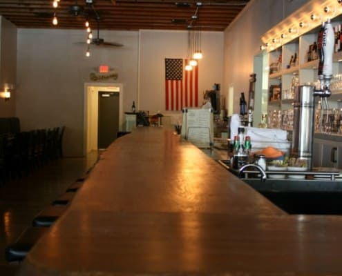 The Local Public House: River-Recovered Heart Cypress Bar Tops make an Impression 2