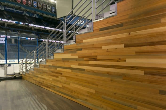 Amalie Arena - River-Recovered Heart Cypress Vertical and Character with Diamond 7