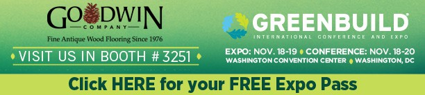 Goodwin Company Exhibiting at Greenbuild 1