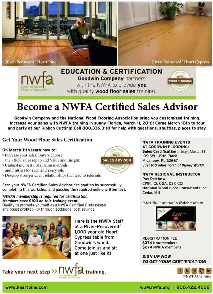 Become Certified to Sell the Floors Everyone Wants!