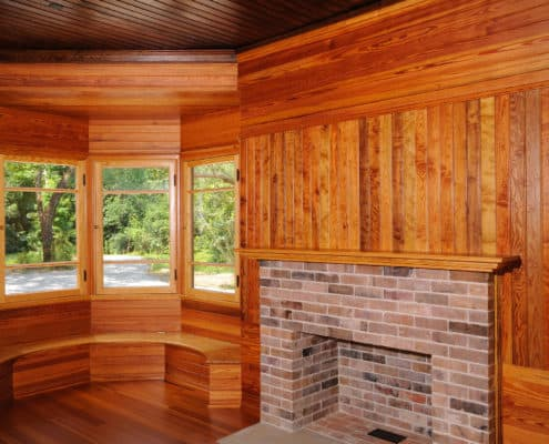 Curly Heart Pine Paneling