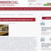 Goodwin Featured on Commercial Construction & Renovation