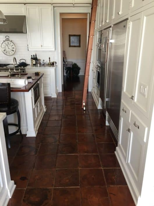 Wow!  This Antique Wood Kitchen Flooring is as Unique as it is Gorgeous 2