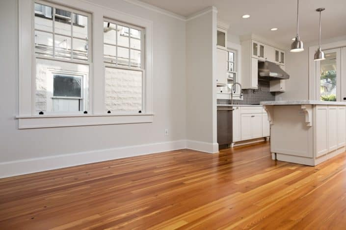 Reclaimed Wood Kitchen Floors Blend Perfectly with Contemporary Accents 3