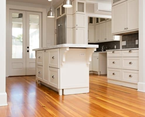 Reclaimed Wood Kitchen Floors Blend Perfectly with Contemporary Accents