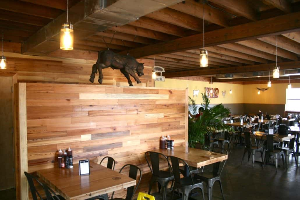 River-Recovered® Heart Pine Adds Southern Charm to Popular BBQ Restaurant 2