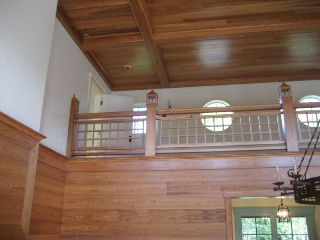 Wood Paneling and Ceiling