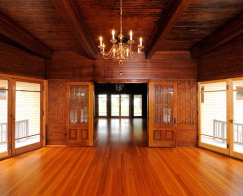 wood paneling floors ceiling