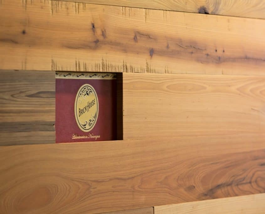 Feature Walls with Embedded Cigar Boxes