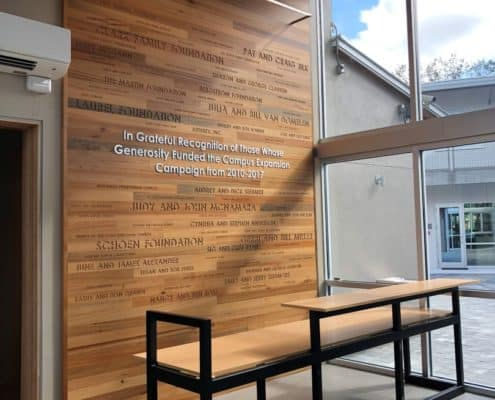 "Heart Cypress Feature Wall Adds Beauty and ""Grace"" to Non-Profit Reception Area"
