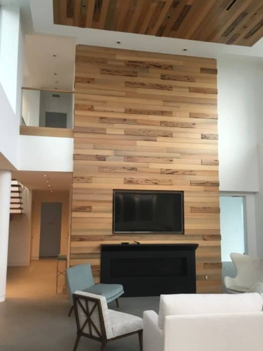River-Recovered® Heart Pine and Heart Cypress Add Contemporary Grace and Elegance to High End Home