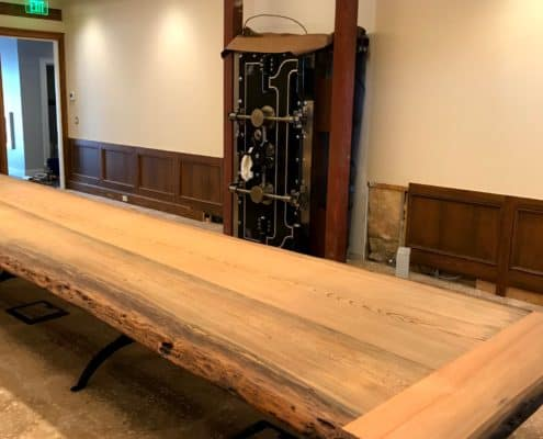 One-of-a Kind River-Recovered® Heart Cypress Table