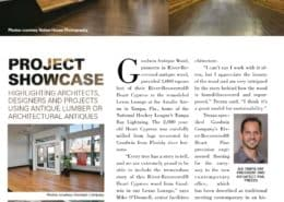 Goodwin Featured in Architectural Salvage & Antique Lumber News
