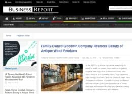 Family-Owned Goodwin Company Restores Beauty of Antique Wood Products