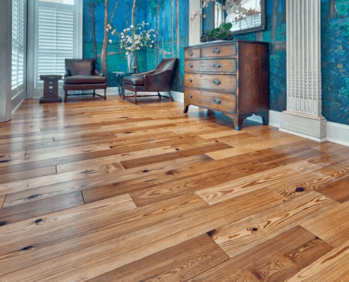 "Antique Heart Pine and Heart Cypress – Two Woods That ""Work"" in Commercial Spaces"