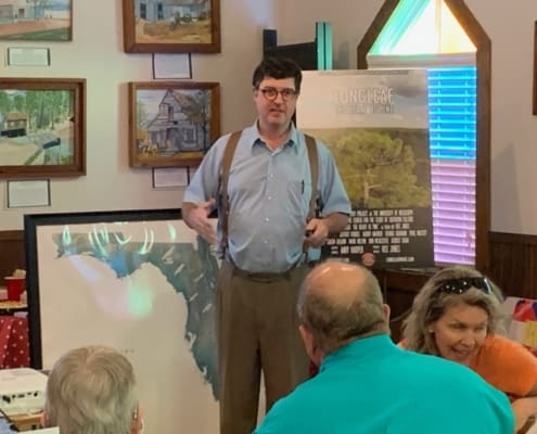 Jeffrey Forbes Presents to Hawthorne Area Historical Society