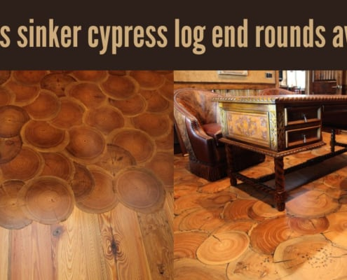 gorgeous sinker cypress log end rounds