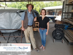 A Goodwin visit with Melissa Wylie of the Florida Trust for Historic Preservation