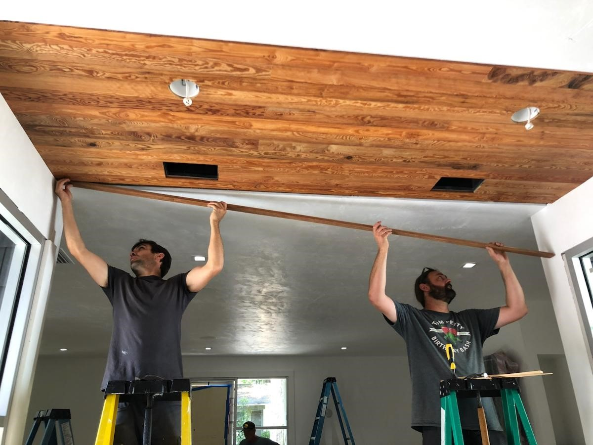 Ryland Wagner's Curly Heart Pine Ceiling 2